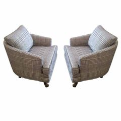 Pair of Fifties Barrel Club Chairs