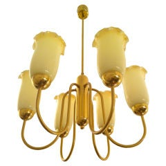 Austrian 1940s Golden Chandelier