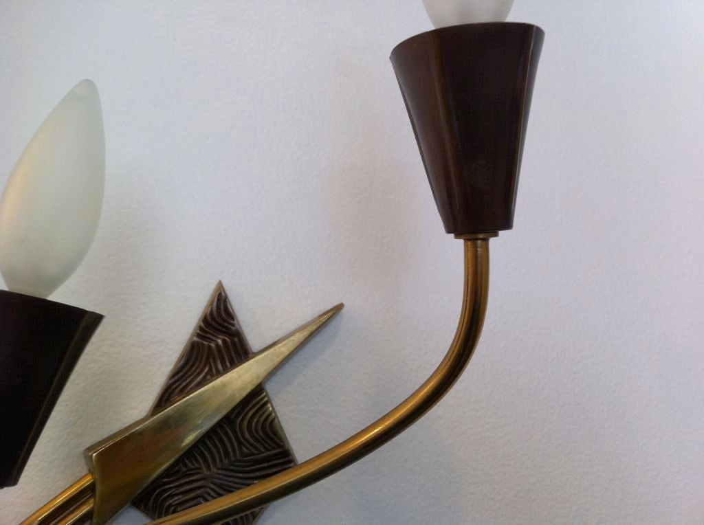 Pair of French 1970s Appliques or Sconces For Sale 2