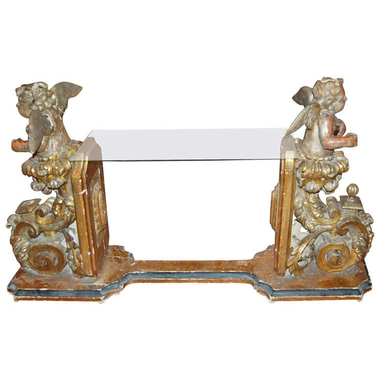 17th Century Italian Angel Console