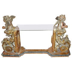 17th Century Italian Angel Console