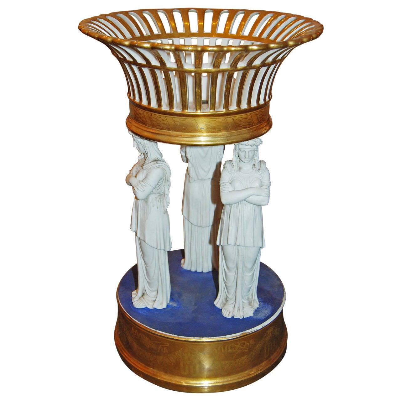 Empire Sèvres Porcelain Centerpiece