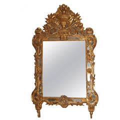 18th Century Regence Giltwood Mirror