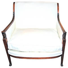 Period Consulate Walnut Marquis Chair