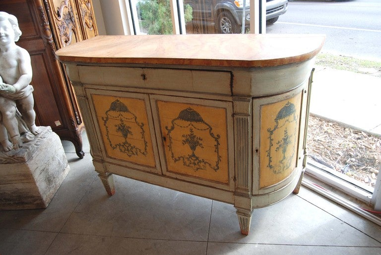 19thc. Painted Italian Buffet In Good Condition In New Orleans, LA