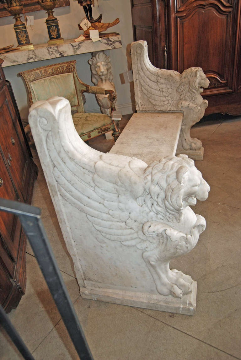 19th Century Italian Marble Bench For Sale 2