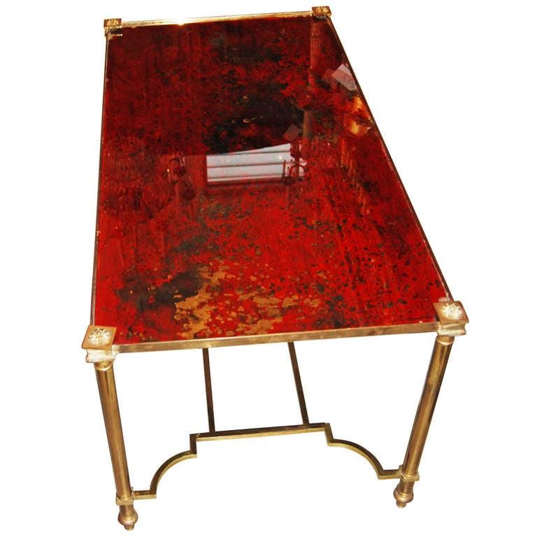 Art Nouveau Cerise Eglomise Coffee Table At 1stdibs