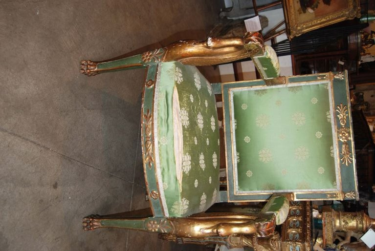 Napoleon  III Carved and Gilded Armchair 2