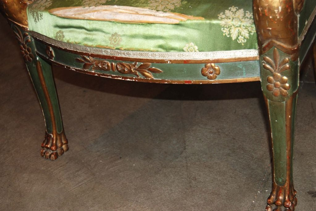 Napoleon  III Carved and Gilded Armchair 4