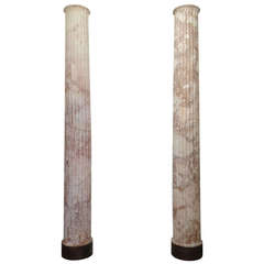 Pair of Classical Marble Columns