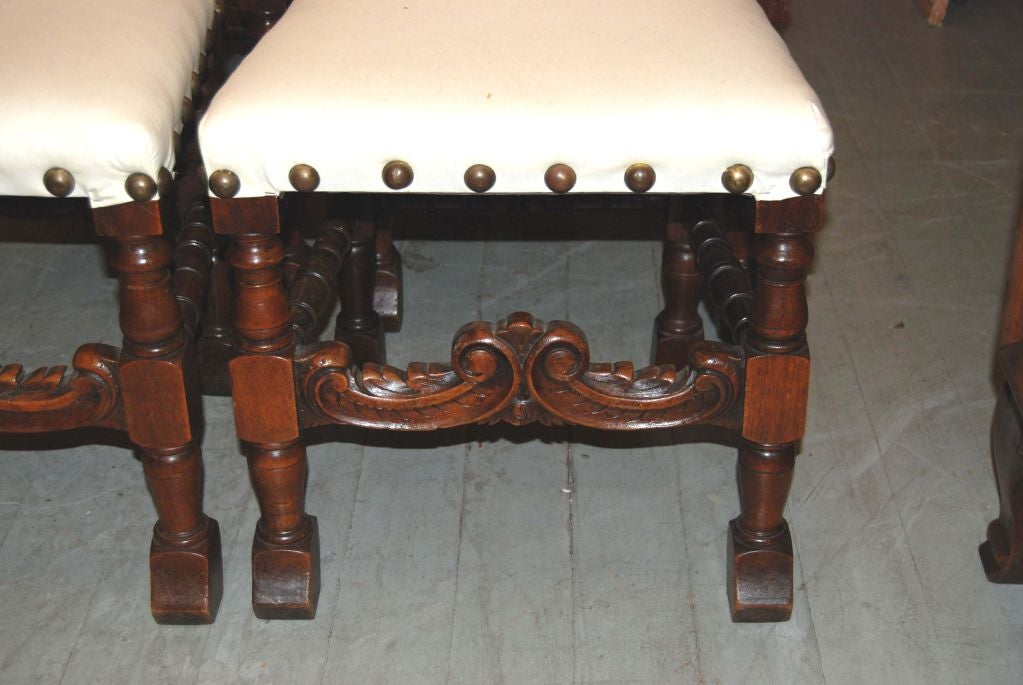 Beautifully Carved Walnut Dining Chairs
