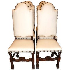 Set of 6 19th Century Walnut Chairs