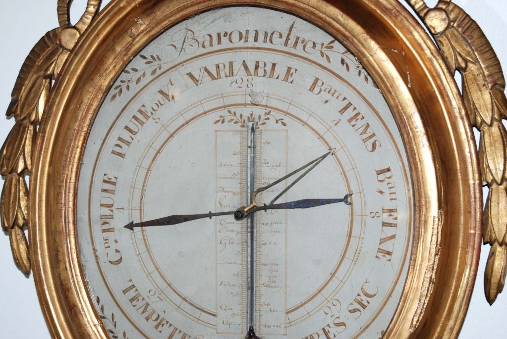 Carved and Giltwood Louis XVI Style Barometer