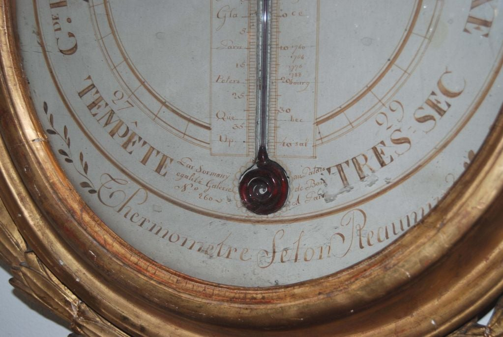 19th c. Giltwood Barometer In Good Condition For Sale In New Orleans, LA