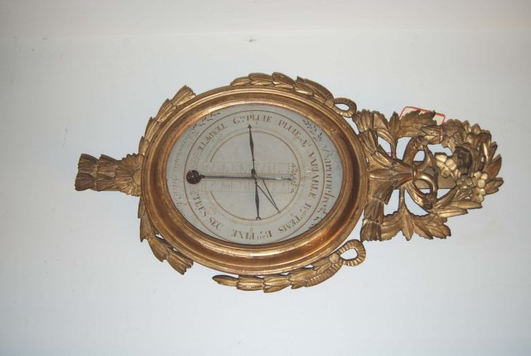 19th Century 19th c. Giltwood Barometer For Sale