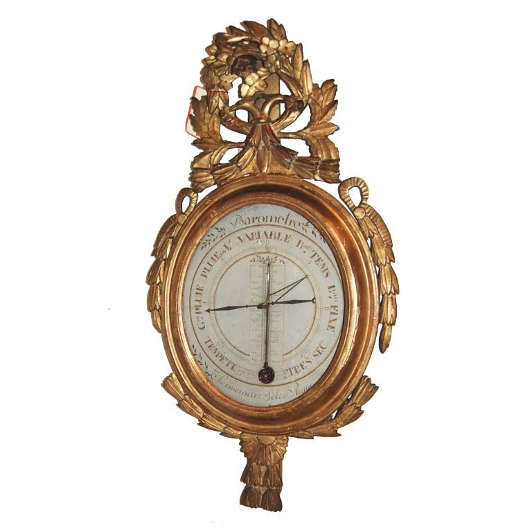 19th c. Giltwood Barometer For Sale