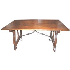 18th c. Walnut Trestle Table