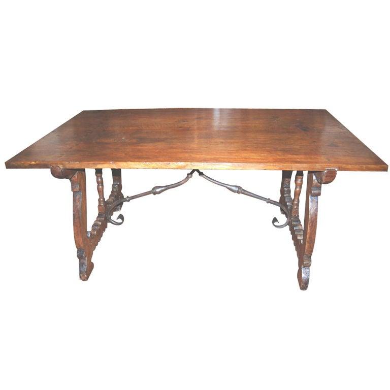 18th c. Walnut Trestle Table