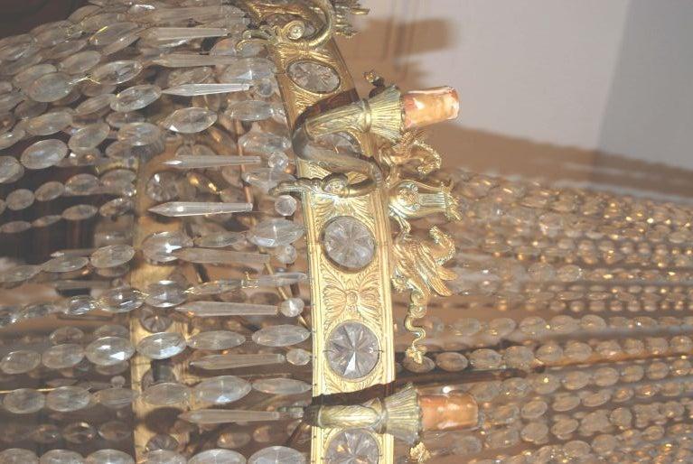 Large figural Empire chandelier.