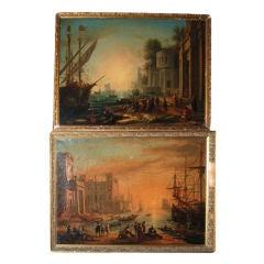 Pair Similar 19thc. Italian School Paintings