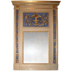 19thc. Italian Trumeau Mirror
