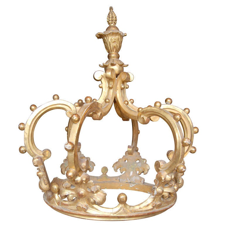 19th c. Giltwood Corona