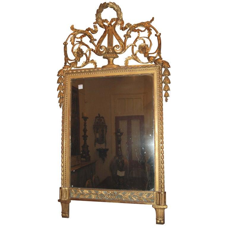 18th c. Italian Trumeau Mirror For Sale