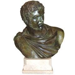 19th c. Bronze Buste of Caracalla