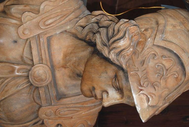 19th Century Terrecotta Ares Buste 4