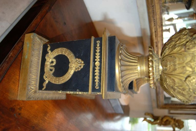 French Period Empire Bronze Neoclassical Urns For Sale