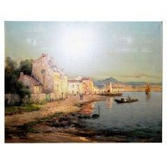 19thc. Pelletier Oil on Canvas