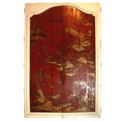 Mounted 18thc. Chinoserie Doors