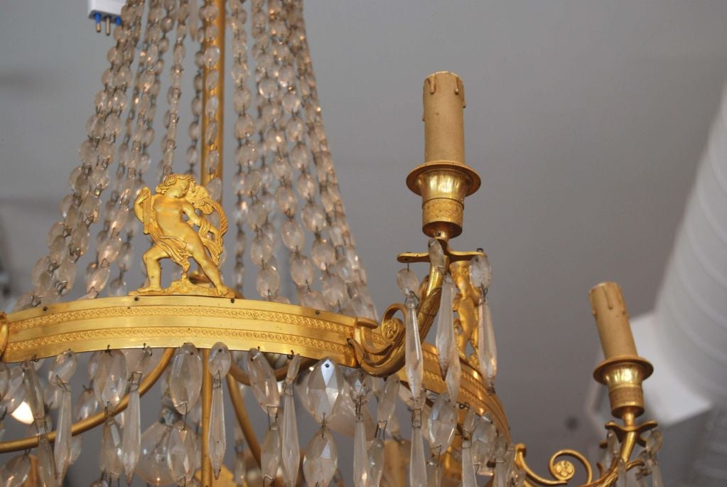 Period empire bronze dore chandelier at 1stdibs for Empire antiques new orleans