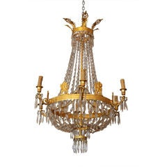 Period Empire Bronze Dore Chandelier