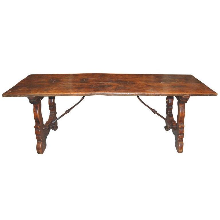 18th C. Walnut Refectory Table