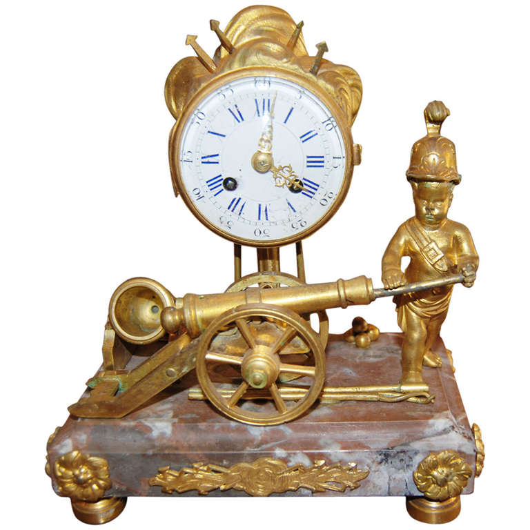 Period empire bronze dore clock at 1stdibs for Empire antiques new orleans