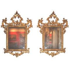 Pair 18th c. Venetian Mirrors
