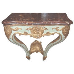 19th c. Painted and Gilded Console