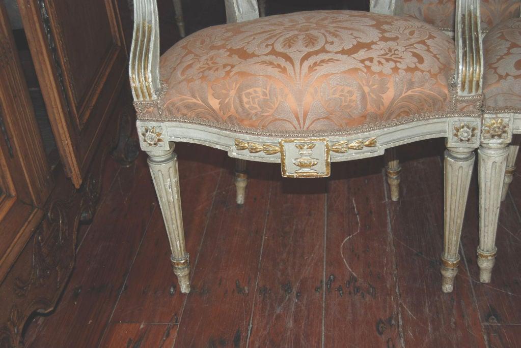 Beautiful Set of 8 19thc. Italian Chairs 2
