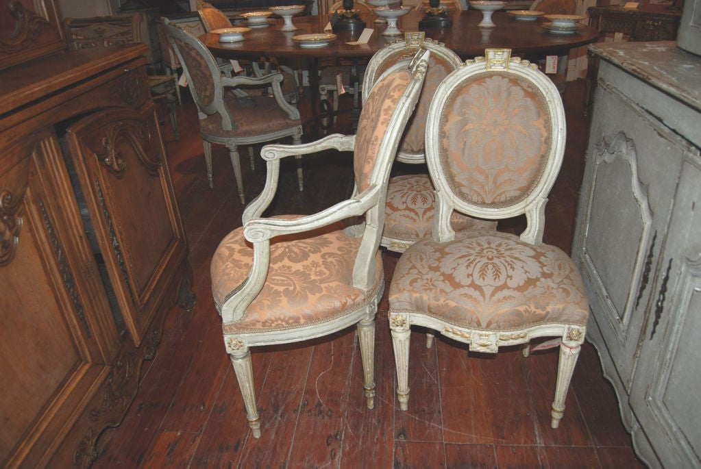 Beautiful Set of 8 19thc. Italian Chairs 3