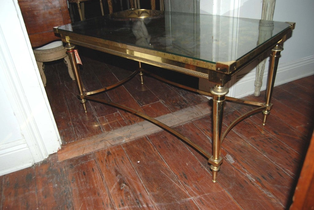 Art Nouveau Eglomise Coffee Table At 1stdibs