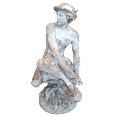 19th c. Stone Statue Mercury