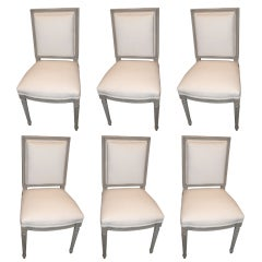 Set of 6 Painted Dining Chairs