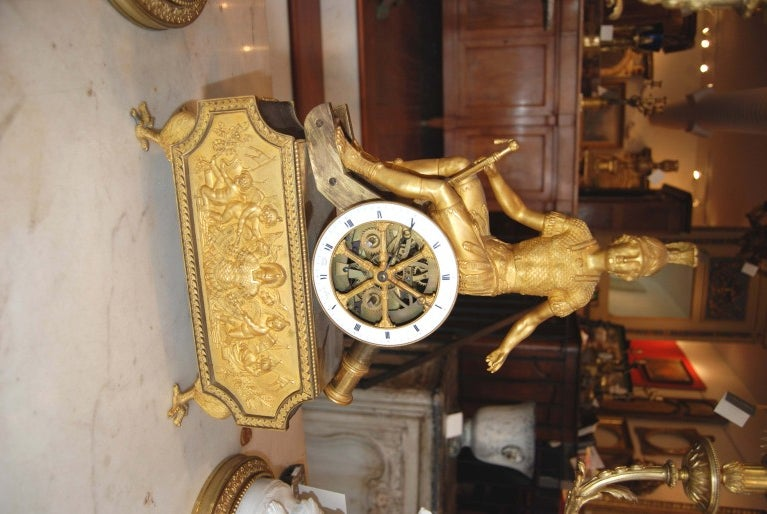 Beautfully Chased and Gilded Bronze Clock