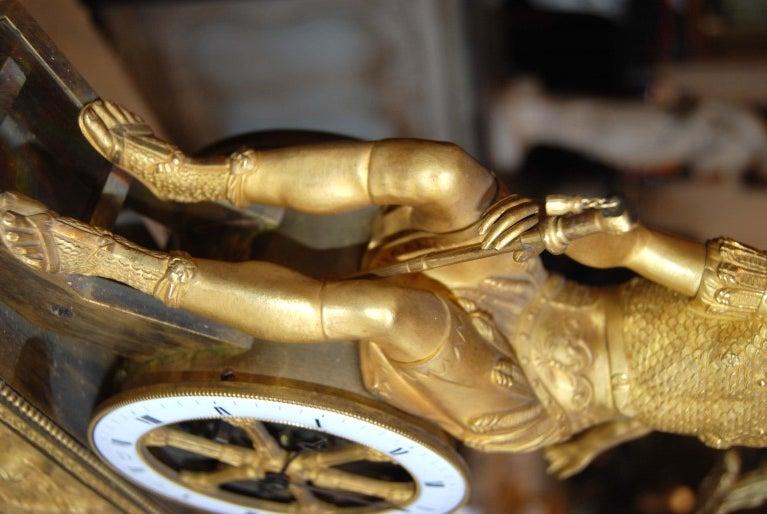 Exceptional 19thc Empire Bronze Dore' Clock For Sale 2