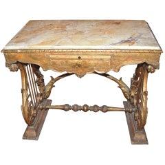 19thc. Italian Giltwood Desk
