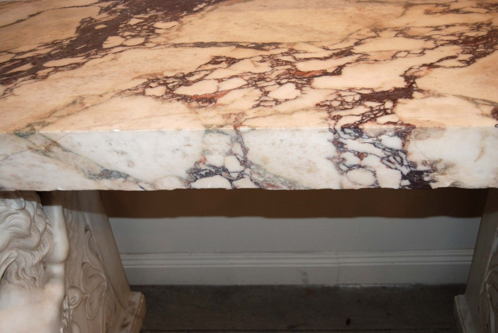 Italian Exceptional 19thc. Marble Console For Sale