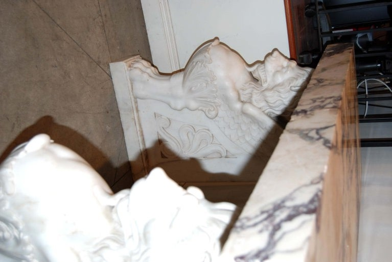 Exceptional 19thc. Marble Console In Good Condition For Sale In New Orleans, LA