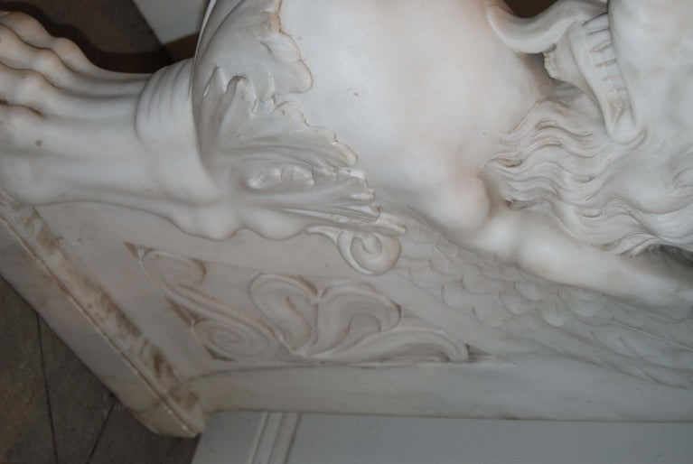 19th Century Exceptional 19thc. Marble Console For Sale