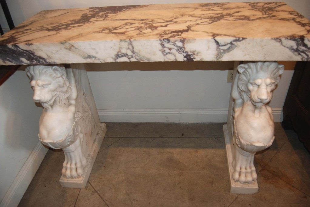 Exceptional 19thc. Marble Console For Sale 1